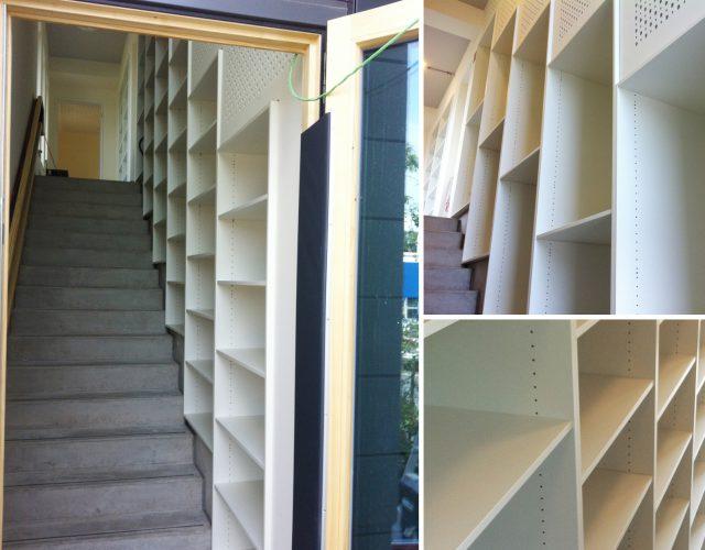 Einbauschrank Büromöbel Einbauregal Holz Maßanfertigung Treppe
