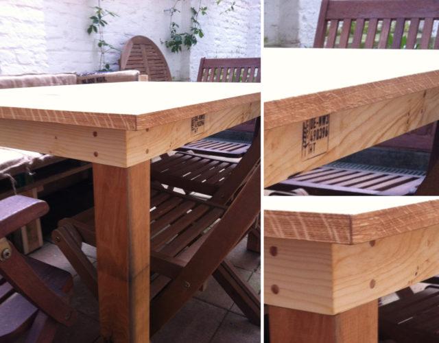 Tisch Esstisch Paletten Holz Upcycling