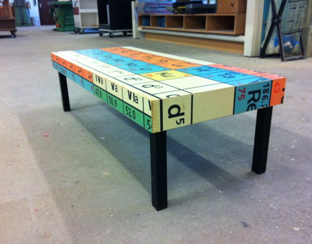 couchtisch schultafel periodensystem upcycling