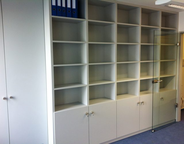 Einbauschrank Büromöbel Einbauregal Holz Maßanfertigung