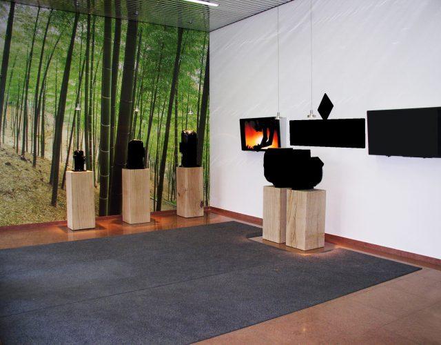 Präsentationssäule Holz