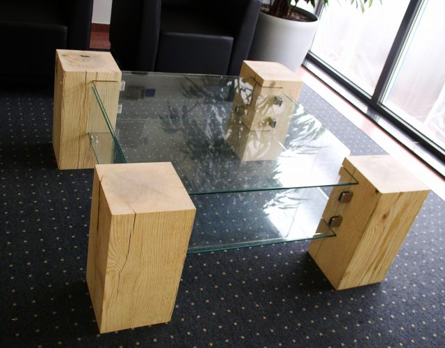 Couchtisch Beistelltisch Glas Holz