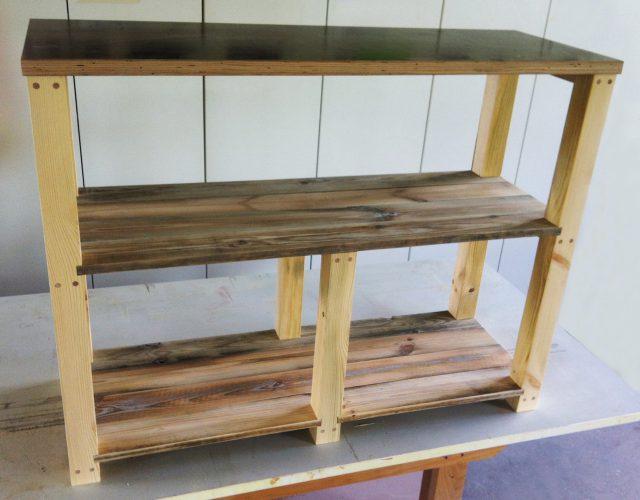 Regal Paletten Holz upcycling