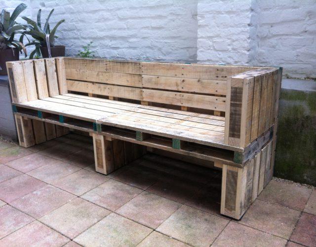 Sitzbank Paletten Holz Upcycling