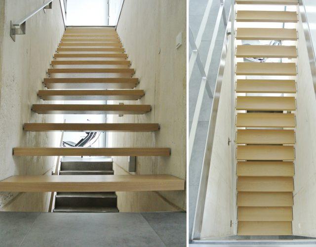 Holz Massiv Tischler Treppenbau Stahl