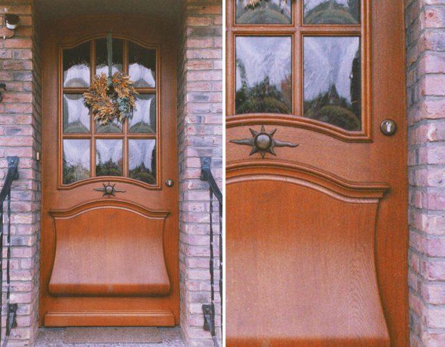 Haustür Hauseingangstür Holz Tischler Glas
