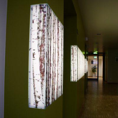 Wandregal Wandeinbauten Licht Design Wandkasten Led Holz - © 2017 Tischlerei Bechhold
