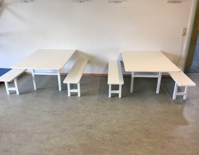 Kita Tisch Sitzbank Wand klappbar